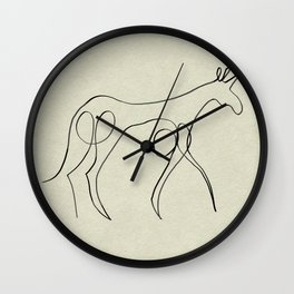 Continuous Line Unicorn Wall Clock