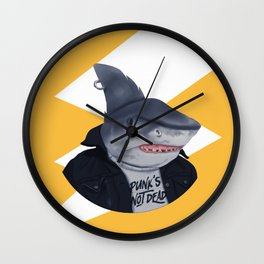 Punk Shark Wall Clock