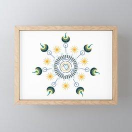 Seven Swans of Virtue Framed Mini Art Print