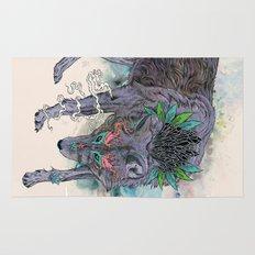 Journeying Spirit (wolf) Rug