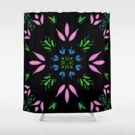 Perfect Pink on Black Shower Curtain