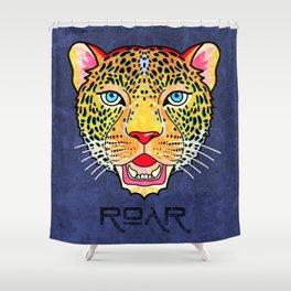 Roar / Retro Wild Cat Shower Curtain