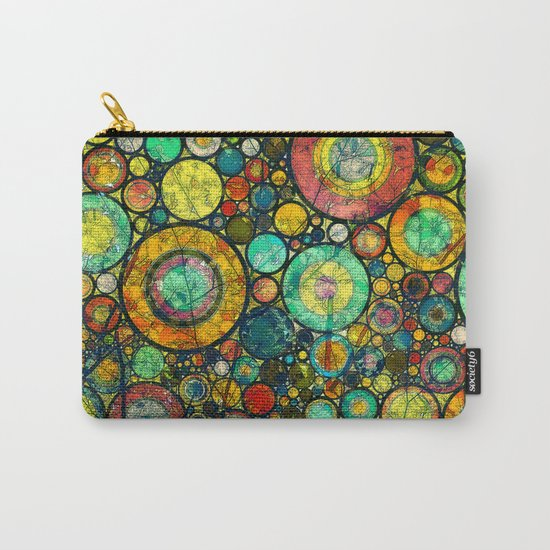 Ring Pattern 3 Carry-All Pouch