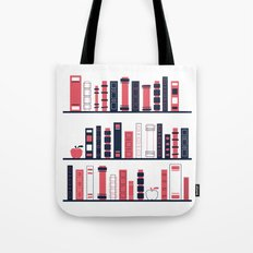 Shelves of Books Stylized Tote Bag