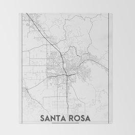 Minimal City Maps - Map Of Santa Rosa, California, United States Throw Blanket