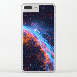 Nebula and stars Clear iPhone Case