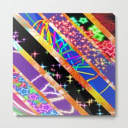 Crazy bright colours Metal Print