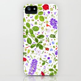 Leaves and flowers (14) iPhone Case