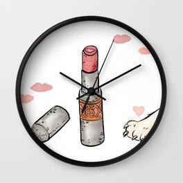 Lippie Love Wall Clock