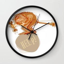 Help monkey Wall Clock