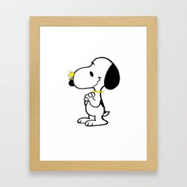 snoopy_with friend Framed Art Print