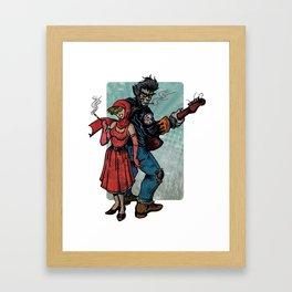 Ginny & Clutch (Little Red Riding Hood Reloaded) Framed Art Print