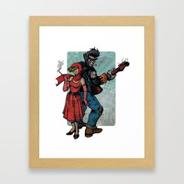 Ginny & Clutch (Little Red Riding Hood Reloaded) Framed Art Print