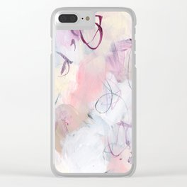 Rose Colored Puzzles Clear iPhone Case