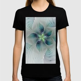 A Floral Fantasy, Abstract Fractal Art T-shirt