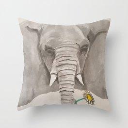 Evan's Elephant Throw Pillow
