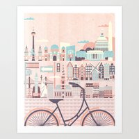 Best Cities to Tour by Bicycle Art Print