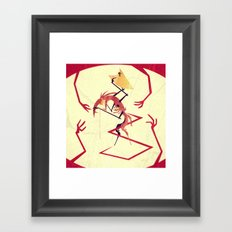 Fear Of Touch Framed Art Print