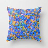 karen Throw Pillows featuring Karen by Leah Moloney