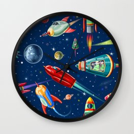 rockets in traffic Wall Clock
