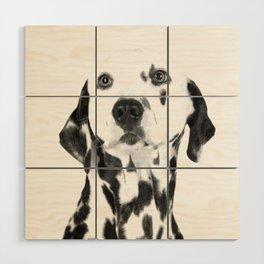 Black and White Dalmatian Wood Wall Art