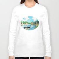 sailing Long Sleeve T-shirts featuring Sailing by YeesArts