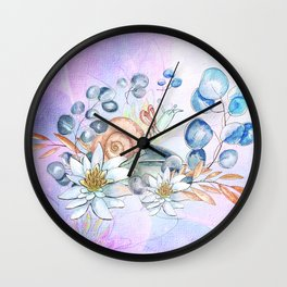 Snail and waterlily, Wall Clock