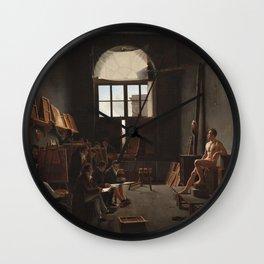 Léon Matthieu Cochereau - The Studio of Jacques-Louis David Wall Clock