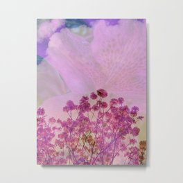 Pink Double Exposure Metal Print