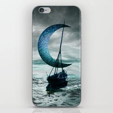 Boat and Moon iPhone Skin