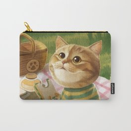 A cat is having a picnic Carry-All Pouch