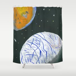 Europa and Io Shower Curtain