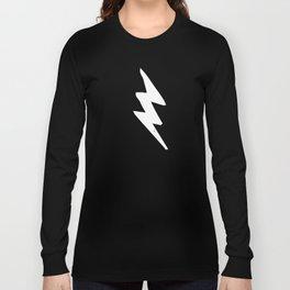 White Lightning Bolt Long Sleeve T-shirt