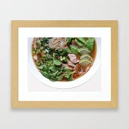 Pho bowl Framed Art Print