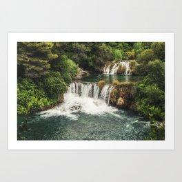 Krka National Park - waterfall Skradinski buk in Croatia Art Print