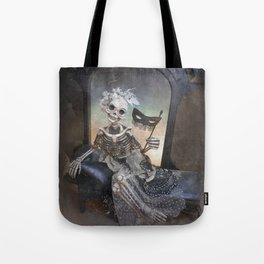 Catrina in Waiting Skeleton Large Format Tote Bag