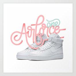 OG Kicks Series | Airforce One Art Print