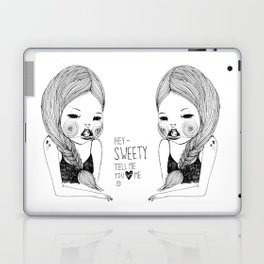 Tell me you love me Laptop & iPad Skin