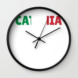 Catania Italy flag holiday gift Wall Clock