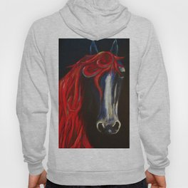 Red and Blue Horse Hoody