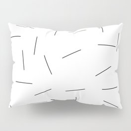 Scattering in black and white Pillow Sham