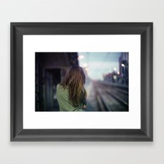 Girl in a Milano Night Framed Art Print