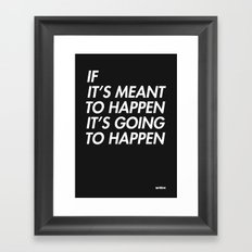 Mean to happen /2/ Framed Art Print