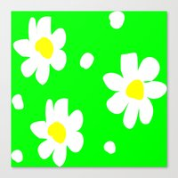 daisies Canvas Prints featuring Daisies by Vitta
