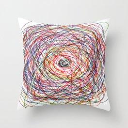 Doodling Lines Throw Pillow