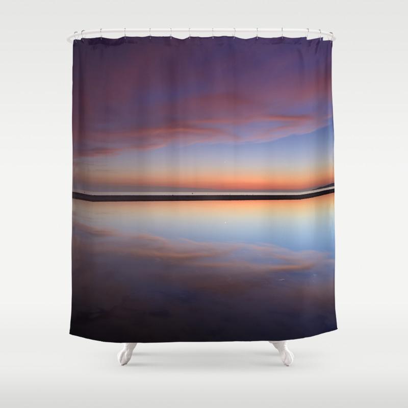 Purple Sunset At The Beach Tarifa Beach Shower Curtain