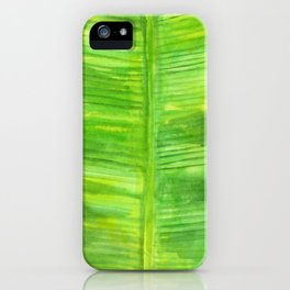 Banana Leaf Watercolor Painting iPhone Case