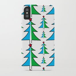 Christmas Tree Pattern iPhone Case