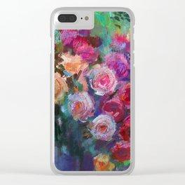 Tea Roses Clear iPhone Case