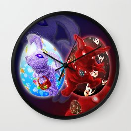 Easter - Angelic VS Evil Wall Clock